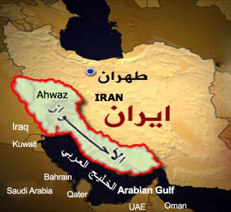 خريطة الاحواز الايرانية