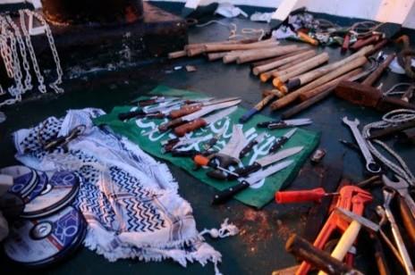 """اسلحة اكتشفت على متن اسطول مافي مرمرة التركية (2010) ما يسمى ب""""اسطول الحرية"""""""